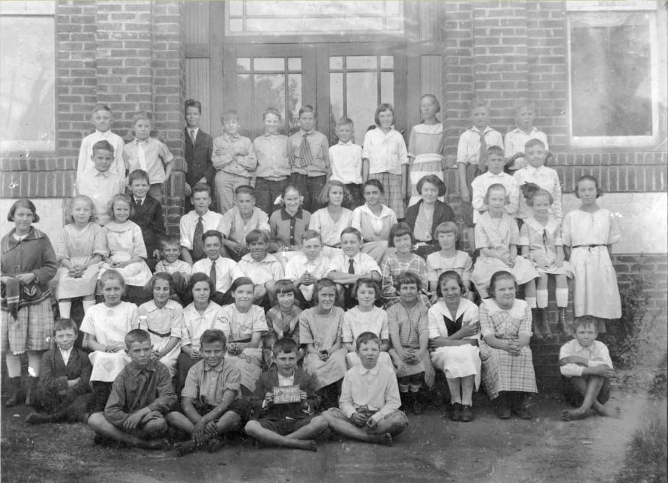 Hapeville School, 5th Grade, 1921: The little guy between the 4th and 5th rows who is wearing a suit, is John D. Humphries, Jr.