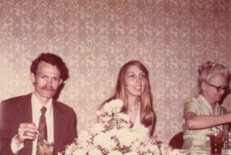 Kay and David Rehersel Dinner May 1973