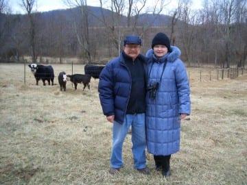 Yuri & Tanya ar Persimmon Ridge 1 24 2004